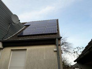Teil der Photovoltaik-Anlage
